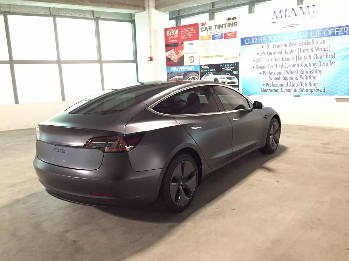 Tesla clear bra Miami, Tesla paint protection wraps Miami