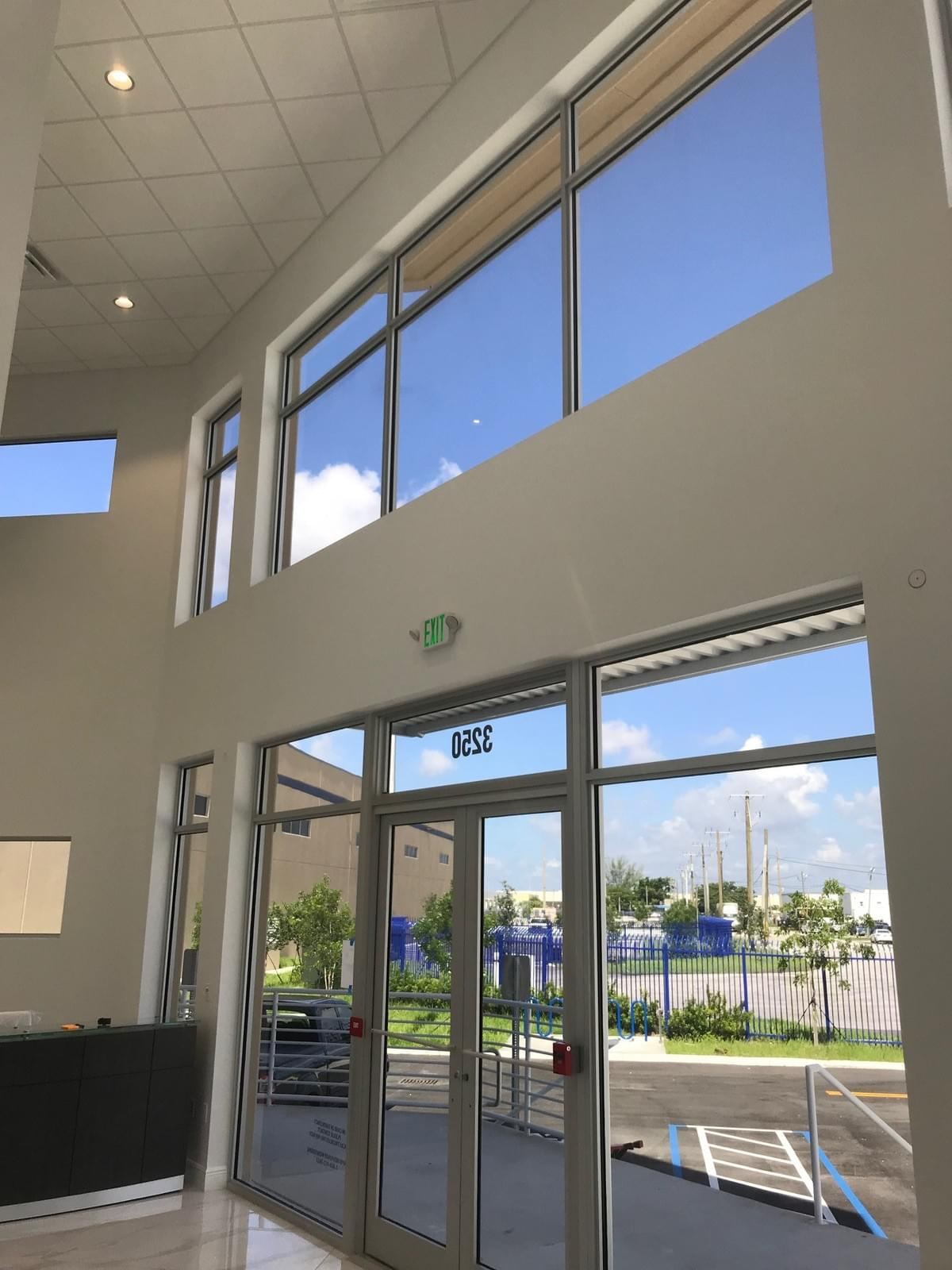 Miami commercial window tinting, Miami office building window tinting, Miami glass tinting, Miami storefront window tinting