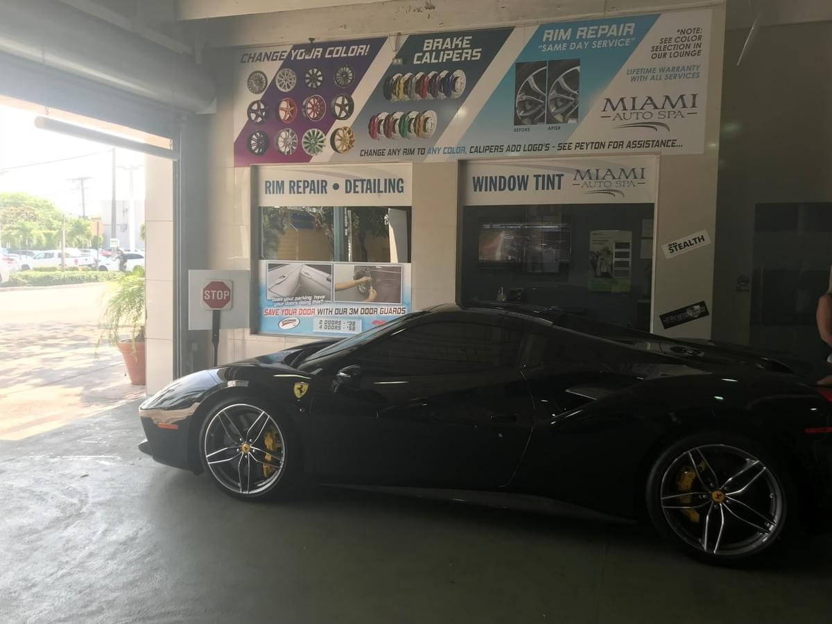 Ferrari window tinting Miami 33131, Window tinting Ferrari Miami Beach 33139