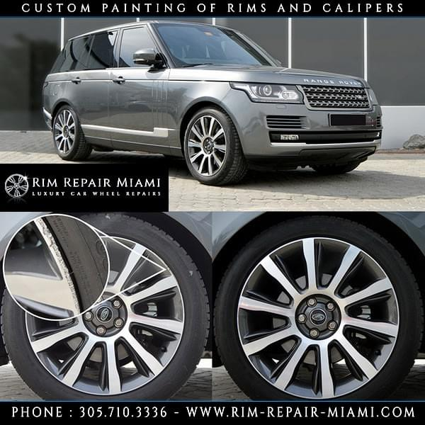 Range Rover Rim repair Miami, Range Rover Wheel repair Miami, Range Rover Curb Rash repair Miami, Range Rover paint wheels Miami, Range Rover paint rims Miami, Range Rover customize wheels Miami, Range Rover Caliper painting Miami, Range Rover custom finish wheels Miami