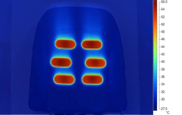 seat heating thermal image
