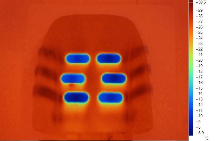 seat cooling thermal image