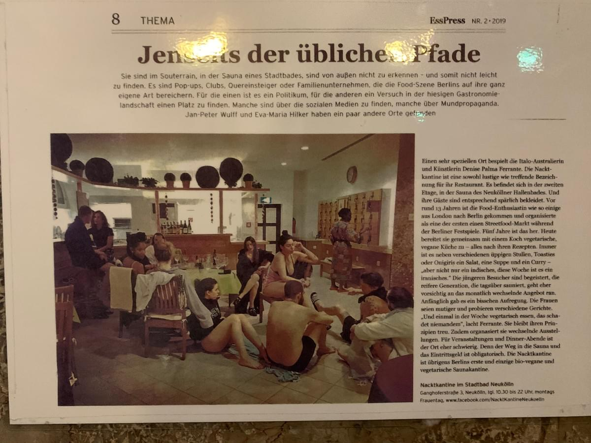 Article about Stadtbad Neukölln attached in the main hall