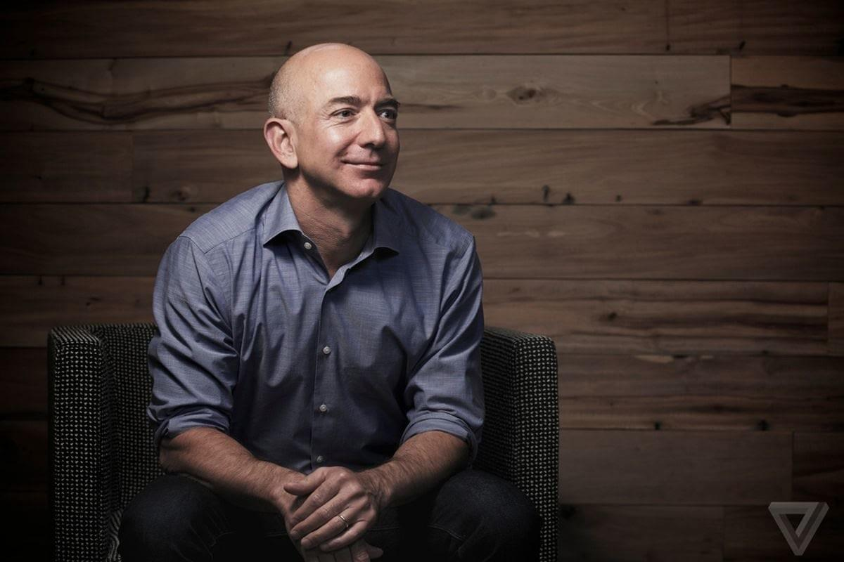 Jeff Bezos, fondateur et PDG d'Amazon, Photo by Michael Shane / The Verge