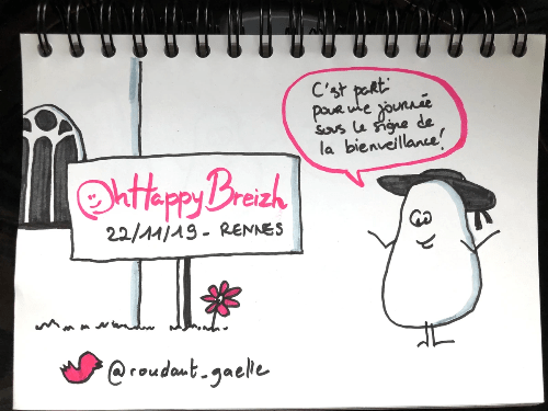 Sketchnote ouverture OhHappyBreizh - Gaëlle Roudaut