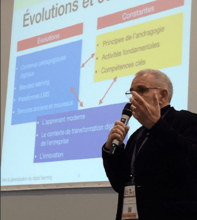 Michel Diaz, directeur associé de Féfaur, au salon Solutions RH et digital Learning 2018
