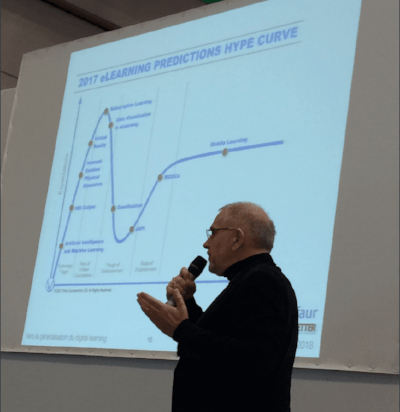 Michel Diaz présente le Hype Cycle du digital learning