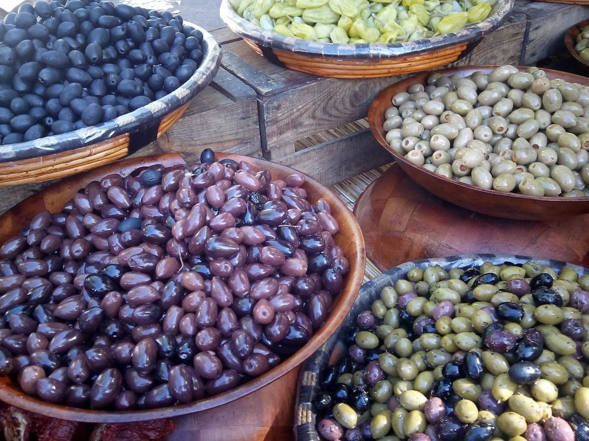 So many olives to choose from at a market