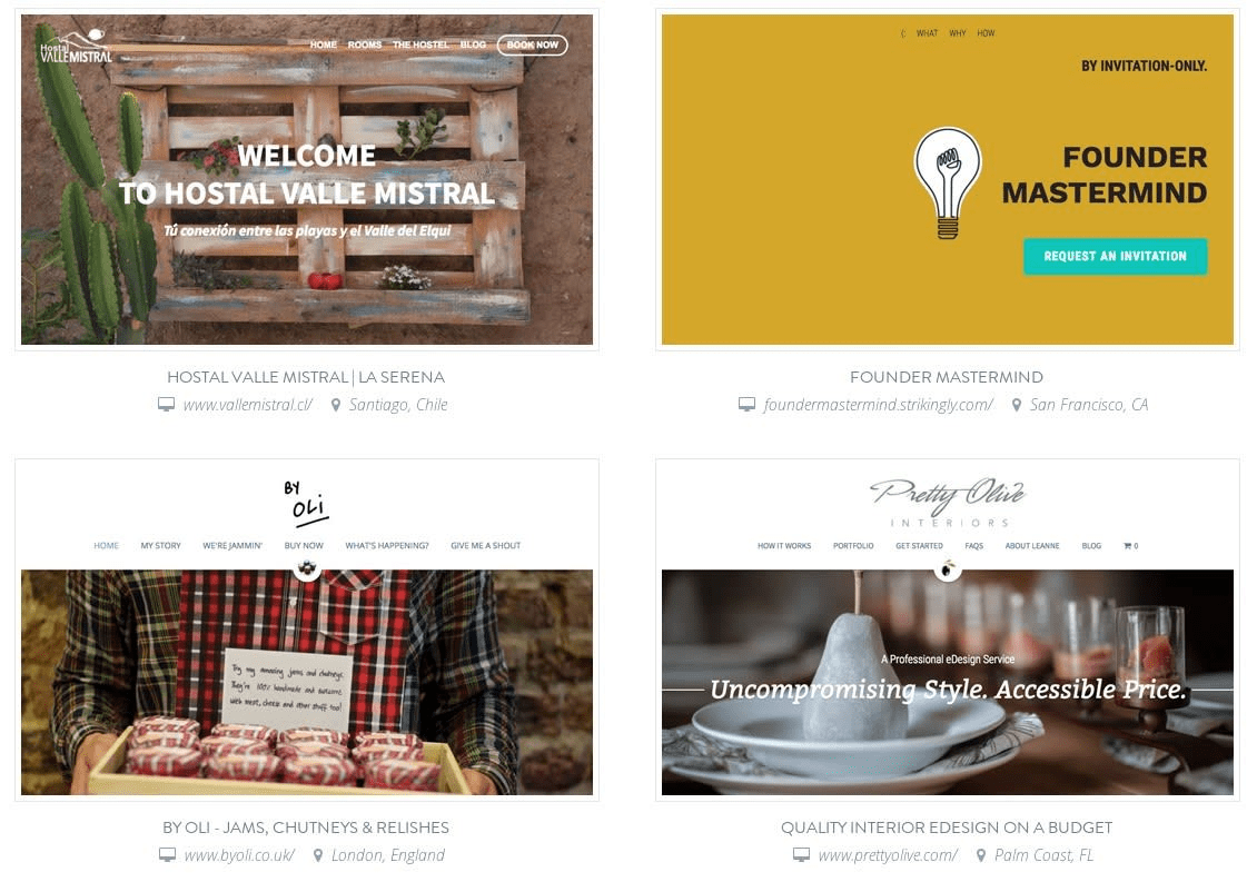 Strikingly offers beautiful templates for website creation