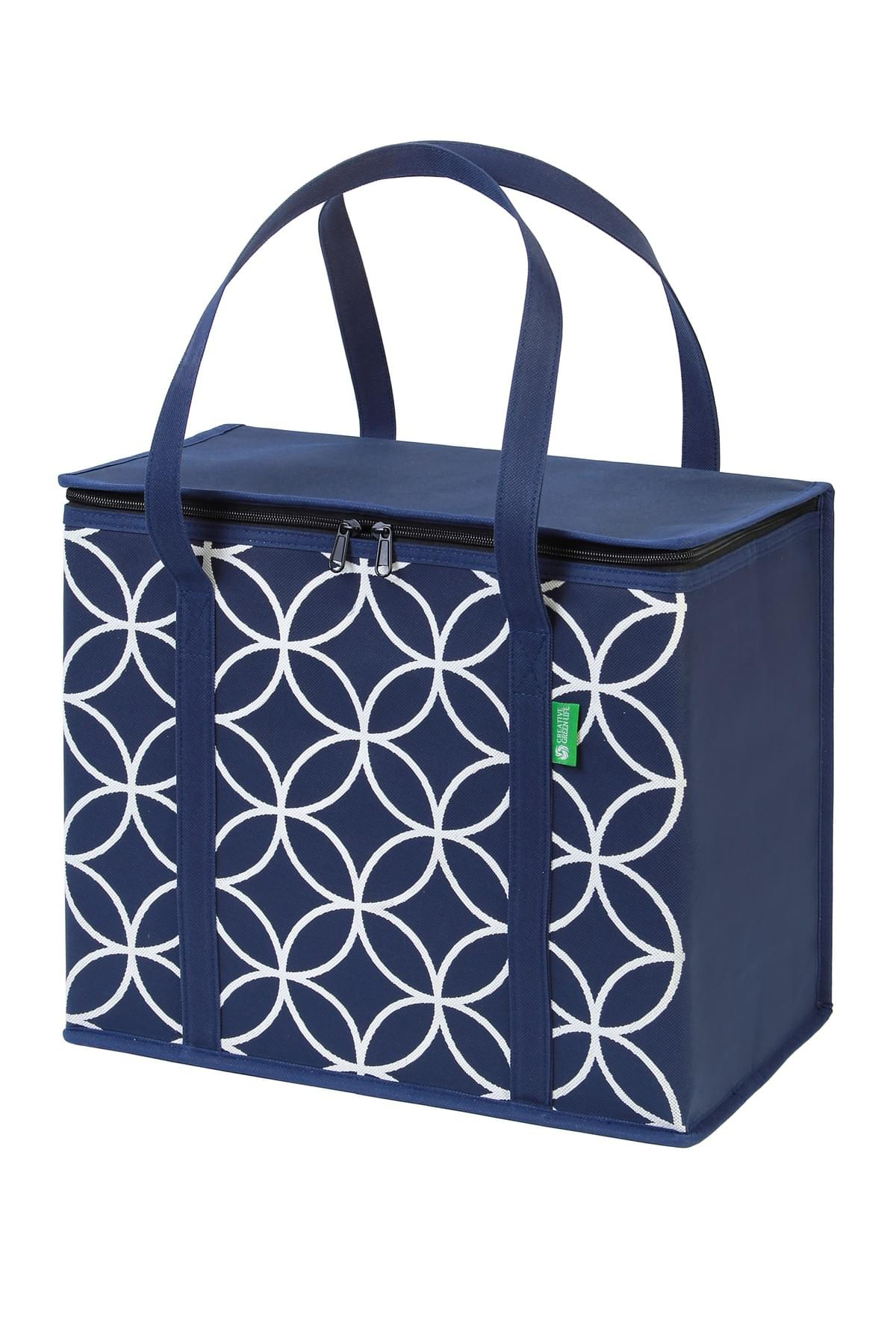 Blue, Gray and Chevron grocery totes