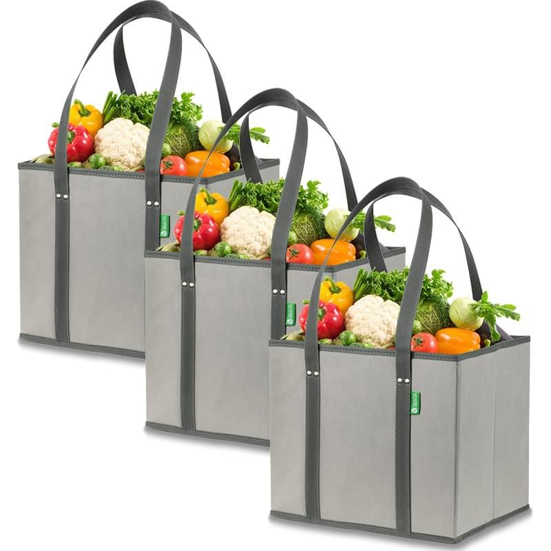 Large premium reusable grocery box bag set