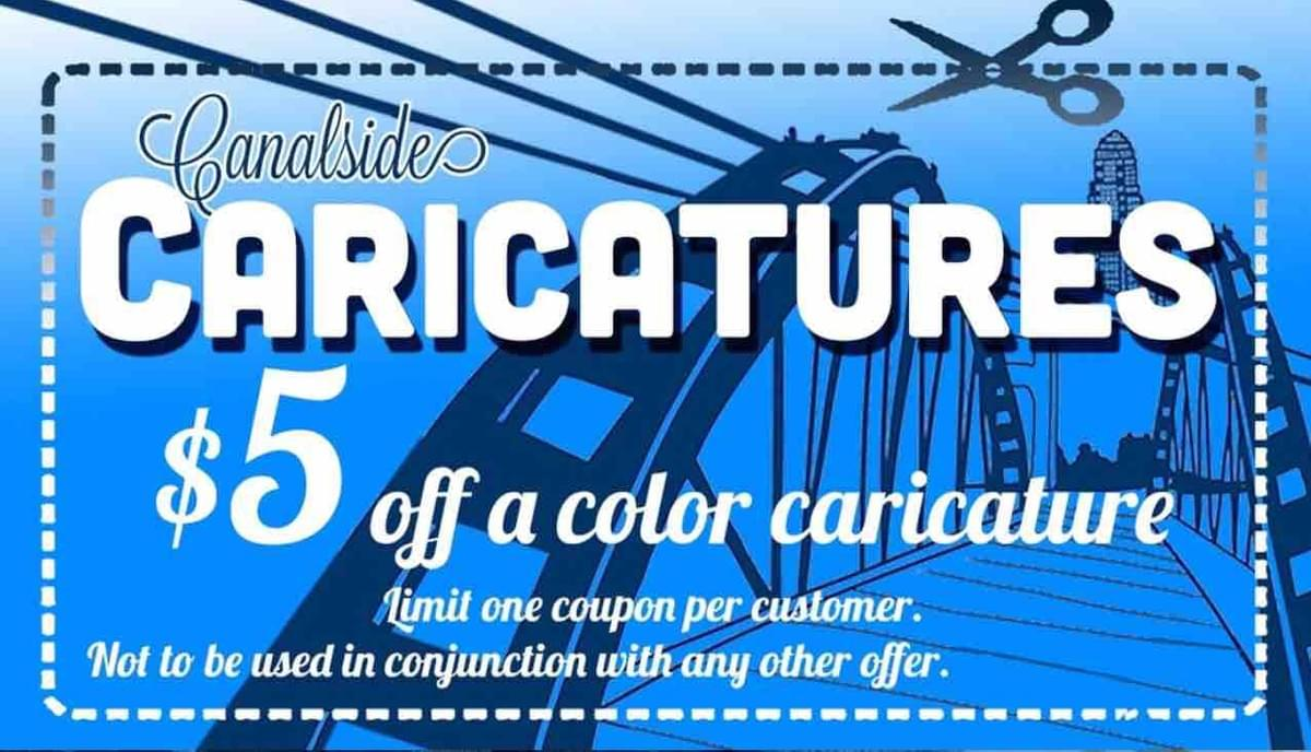 CARICATURE COUPON DISCOUNT