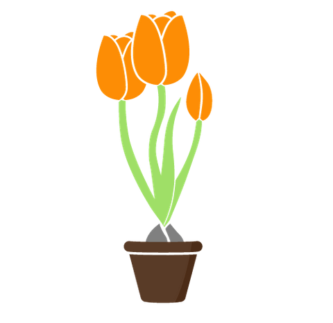 Large business, growing tulip