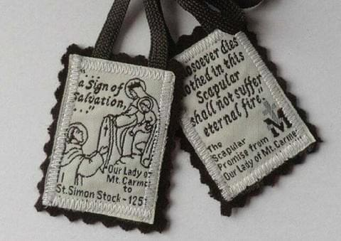 Traditional Brown Scapular of Our Lady of Mt Carmel