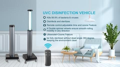 GO-UVC  portable disinfection lamp video