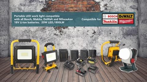 PRIME-tool 18V tool work light video introduction