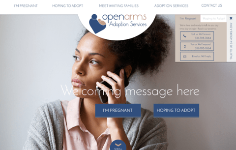 OPEN ARMS ADOPTION WEBSITE