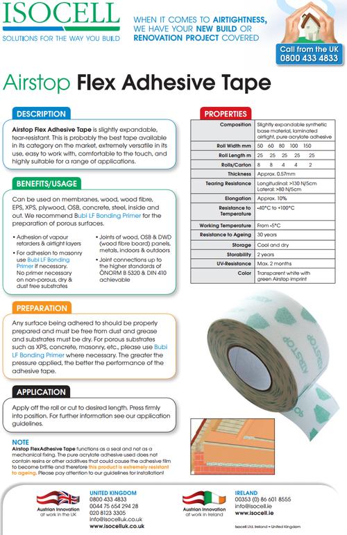 Airstop Flex - Airtight Tape