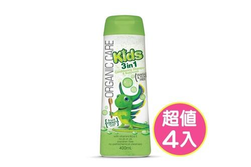 4入泡泡龍植粹洗髮沐浴露400ml