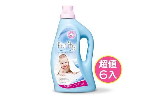 6入植粹嬰幼兒衣物柔軟精(低敏)1.25L