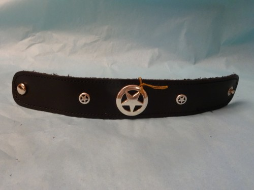 Texas star leather bracelet