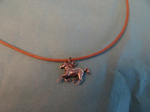 Leather horse necklace