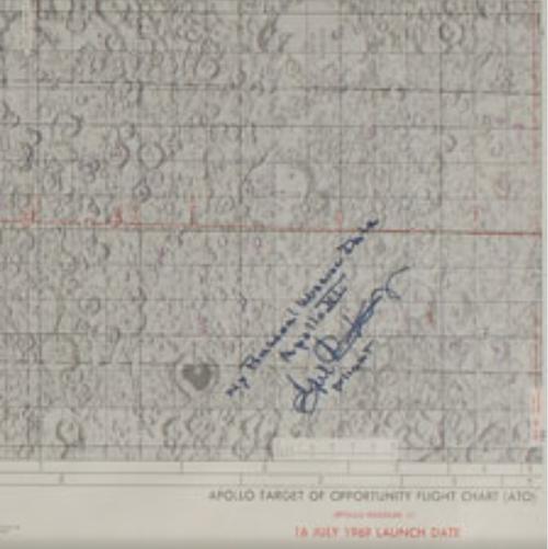 Apollo 11 Flight Chart signed by Gene Kranz