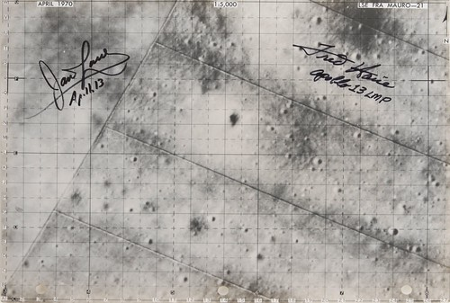 Apollo 13 Lunar Map by James Lovell and Fred Haise - Flown