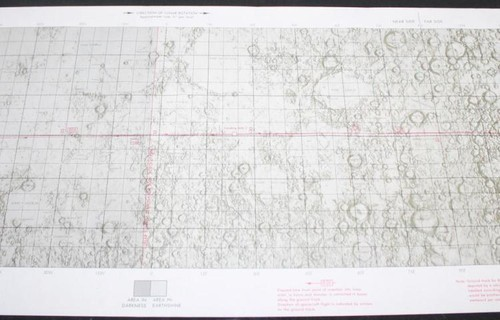 Apollo 11 Lunar Orbit Chart signed by Jack Lousma