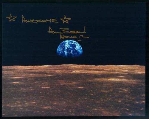 Apollo 12 Alan Bean Signed Glossy Photo