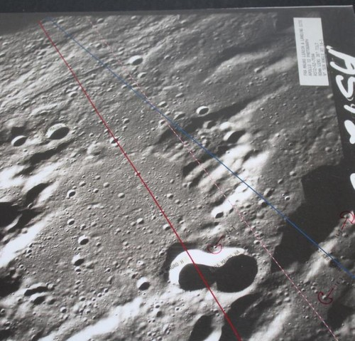 Apollo 14 Training Landing Approach Photo Map, LMS