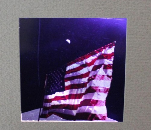 Apollo 17 US Flag and Earth NASA Transparency From Master