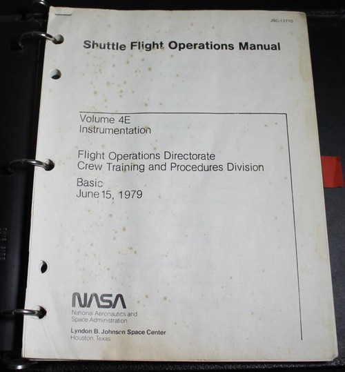 Shuttle Instrumentation Training Manual, 1979