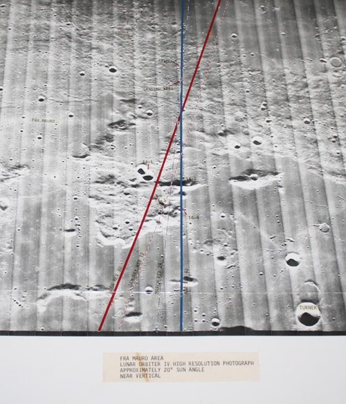 Apollo 14 Training Landing Approach Photo Map