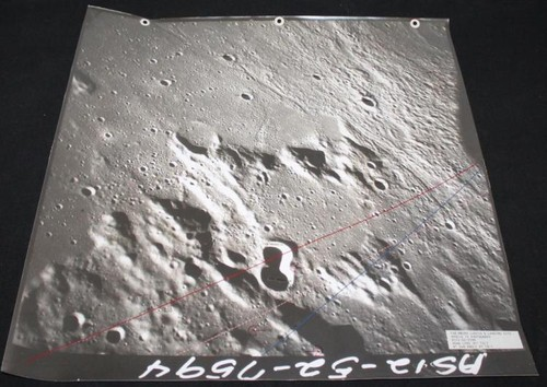 Apollo 14 Training Landing Approach Photo Map, LMS
