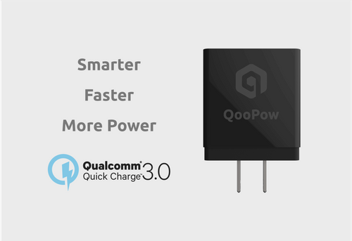QooPow™ Wall Charger, Smart & Super Fast QC3.0, 18W