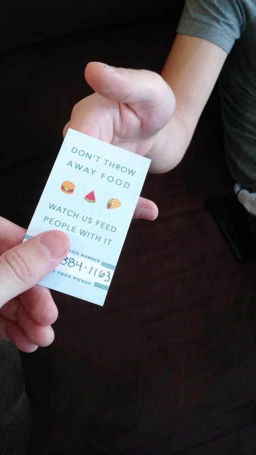 """""""Signup a Food Provider"""" Business Card"""