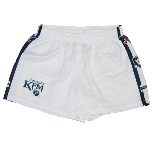 Senior White Footy Shorts