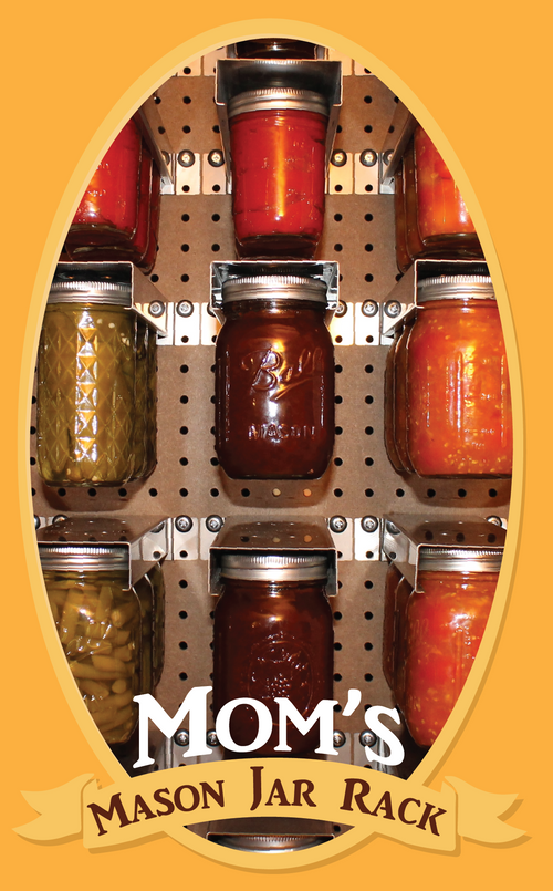 Mom's Mason Jar Rack - 2 Pack - Regular Mouth Mason Jars