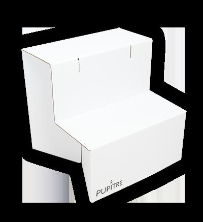 """Modèle """"Comme un lundi"""" - Bureau debout pliant blanc"""