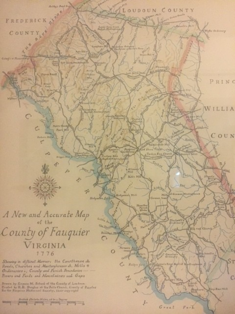 1776 Map of Fauquier County (Folded)