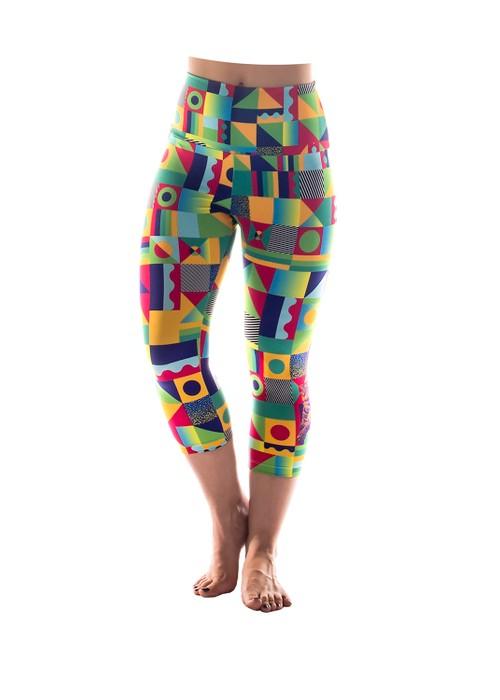 Leopard print High-waist Capri leggings