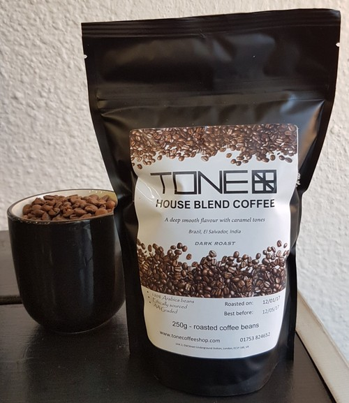 TONE - House Blend Coffee - 250g Dark Roasted Beans