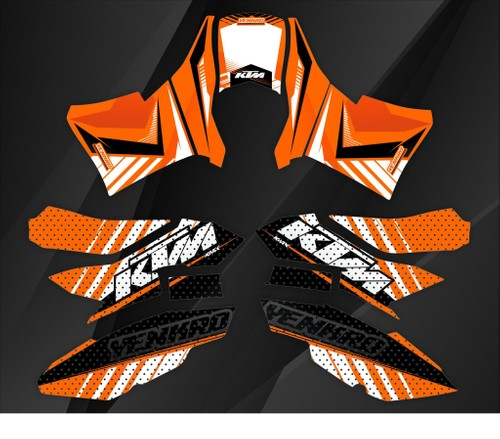 KTM 690 Orange Sticker Kit
