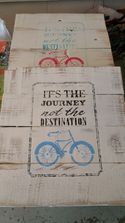 Its the journey not the destination sign