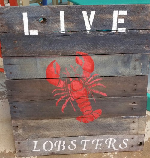 Live Lobster sign