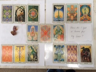 Interpretation by Eli, of your own tarot card layout;-OTHER THAN THE HALF-MOON LAYOUT