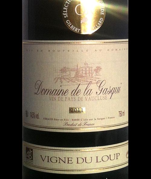Domaine de la Gasqui IGP Vaucluse Vigne du Loup 2017