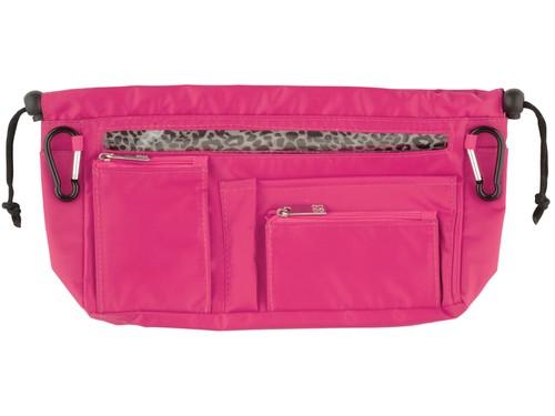 Handbag organiser in Hot Pink