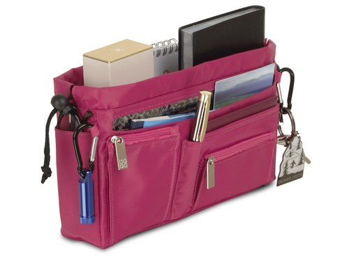 Handbag organiser in Hot Pink